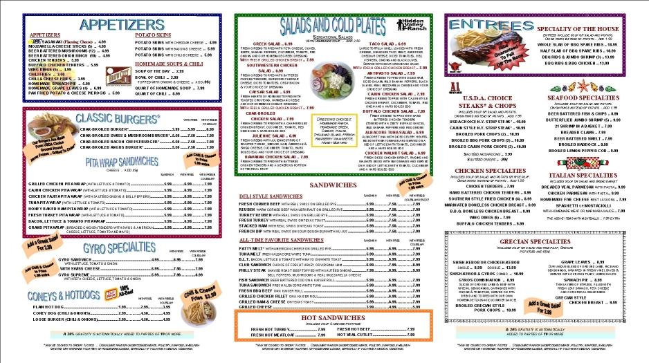 tri fold double sided laminated menu six pages trifoldmenu usa